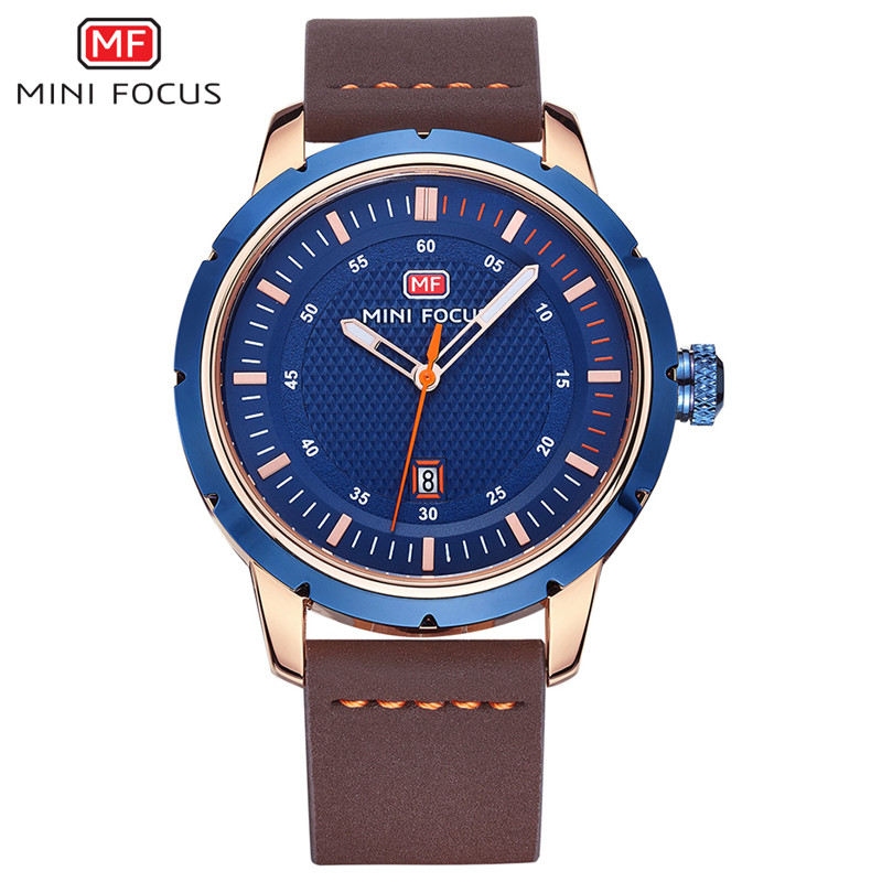 China Supplier Black Custom OEM Logo Wristwatch Mens Leather Quartz Watches for india market