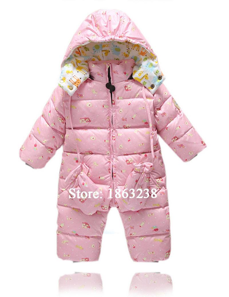 9532e96df Get Quotations · Free Shipping Waterproof Newborn Baby Snowsuit White Duck  Down Baby Jumpsuit Infant Boys Snowsuit Winter Coat