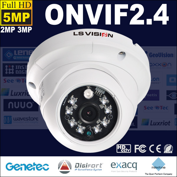 LS VISION 6mm array ir led dome camera cmos two way audio ip camera 5 megapixel ip camera module