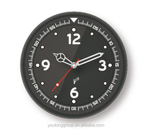 ABS Aluminum Frame Wall Clock With Customized Logo