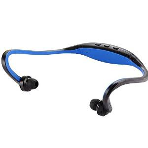 MMOBIEL Handsfree Bluetooth 4.1 Sport Wireless Music Stereo Sound Neckband Headset Headphone with build-in Microphone for all Bluetooth Smarphones (Blue)