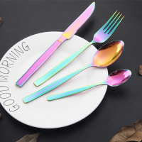 Rose gold cutlery , stainless steel silver and gold stainless steel gold restaurant cutlery set