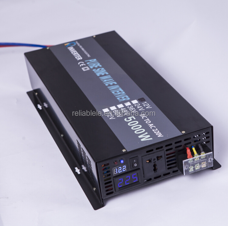 12v 24v 36v 48v dc to 110v 120v 220v 230v 240v 5kw off grid pure sine wave solar power home inverter
