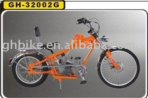 "20""-24"" good quality cheaper blue chopper gas bike moto bike"
