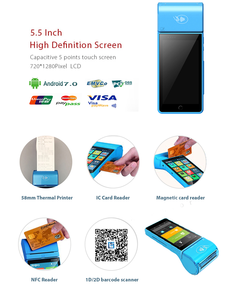 Portable Mobile Offline Pos Touch Machine All In One