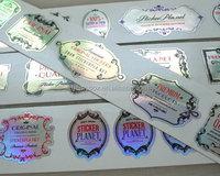 Customized Full Color Premium Metallic Holographic Vinyl Sticker