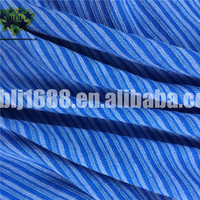Blue Color Microfiber Stripe Towel Fabric For Home Cleaning