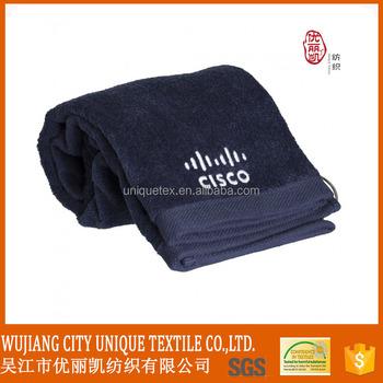 Custom plain Logo Embroidered GYM Towel Golf Towel