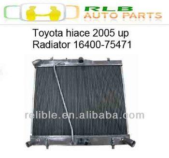hiace 2005 radiator # 16400-75471 ( 2TR-FE engine)
