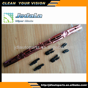 colored chrom double plastic windshield wiper