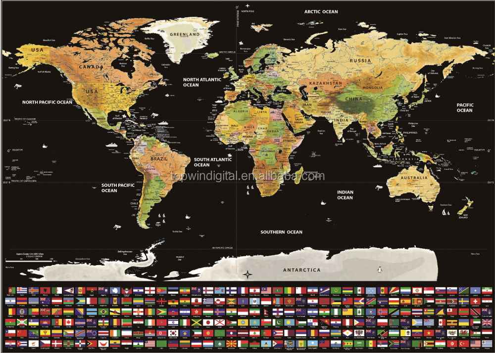 Travel World Map With Us States All Country FlagsInclude Scratch - Scratch off us map