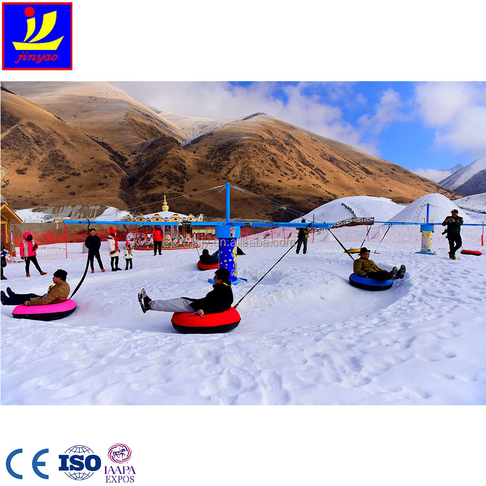 8 seats full hydraulic snow ice turning play for outdoor amusement Frozen Paradise