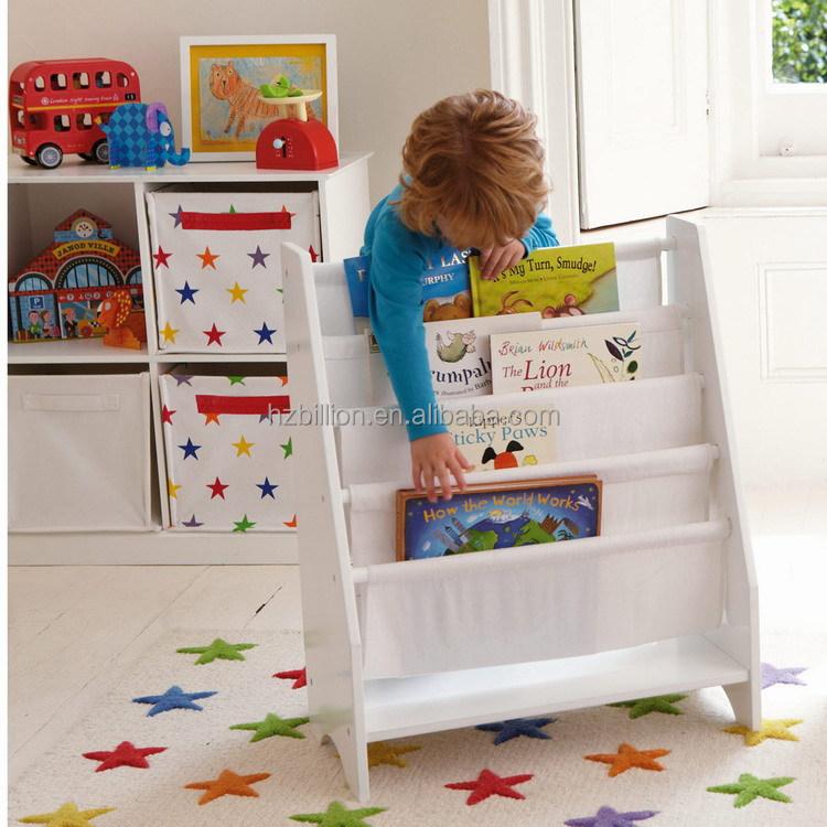 Childrens Kids 3 Tier Toy Bedroom Storage Shelf Unit 8: 5 Level Tier Wooden Childrens Canvas Book Shelf Display