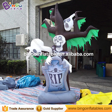 Halloween decoratin inflatable Zombie tombstone eith ghost for display