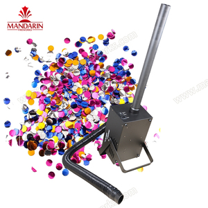 CE approval 8-10m 1800w confetti cannon machine high speed stage party paper blower confetti machine