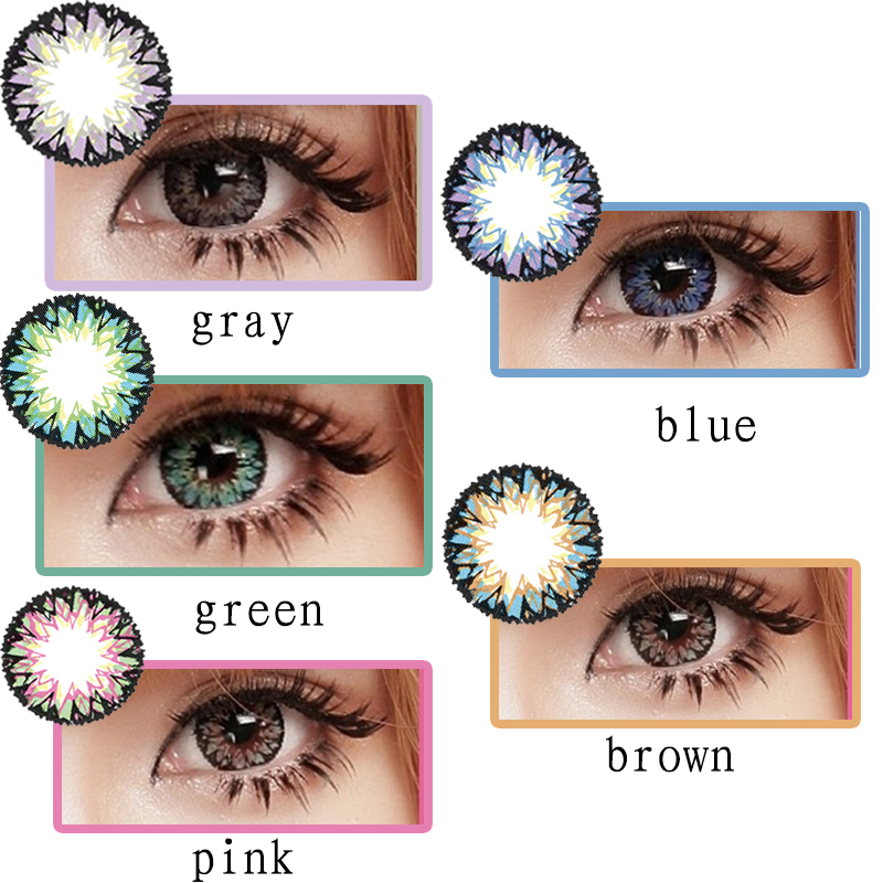 17.8mm 4 Tone Big Eye Wholesale Cheap Price Colored Contact Lenses ...