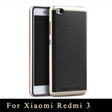 Xiaomi Redmi 3 Case Original brand Top Quality Redmi3 Armor PC Frame+silicone Back Cover For Xiaomi hongmi 3 cases
