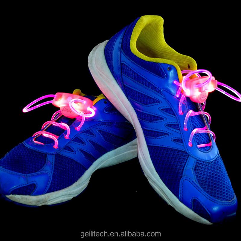 工場直接供給安い価格led靴ひも高品質カラフルなled靴ひもライトアップでバッテリー