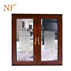 Wooden clad aluminum casting glass casement doors