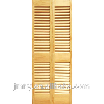 Folding Cabinet Door Bi Fold Ventilated Solid Wood Louver Closet Doors