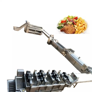 Yazhong food machinery frozen french fries line fresh potato crisps making machine