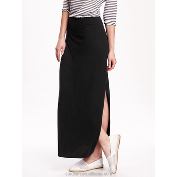 39d82159e Las Últimas Mujeres Falda Larga Diseño Estilo Occidental Cómodo Clásico  Faldas - Buy Último Diseño De Falda Larga,Faldas Largas Para ...