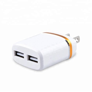 Portable Multi EU/US 5V 2.1A LED Light Mobile Phone Fast Charger Dual Ports USB Plug Power Travel Wall Charger With