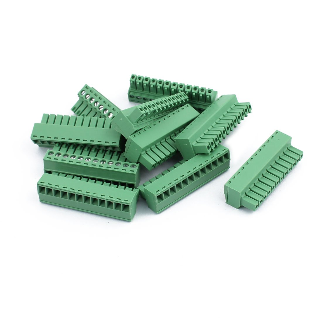 uxcell 10Pcs 300V KF2EDGK 3.65mm Pitch 12-Pin PCB Screw Terminal Block Connector