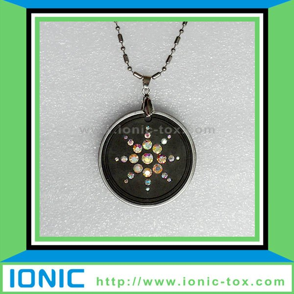 Science lava quantum pendant made from Japan Volcanic rocks