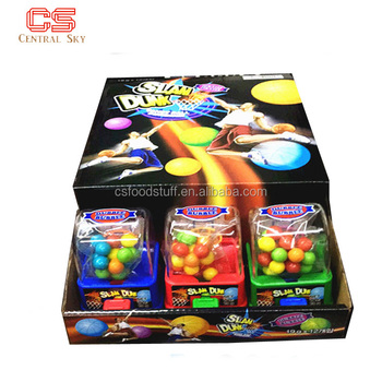 Funny Basketball Slam Dunk Toy Candy Bubble Gum Machine For Kids