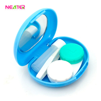 oval shape travel case cute plastic eye contact lenses cases