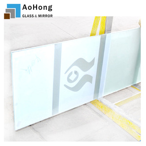 Decorative Glass Partition Wall Printed