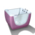 New design 53 inch baby bath tub with stand,double-sided glass tub,hot spa baby bath tub