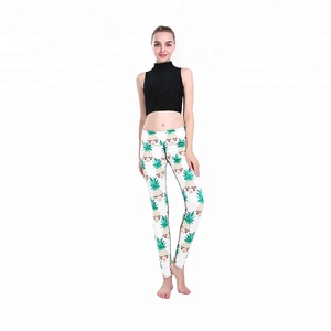 High Waist Plus Size Yoga Pants Wholesale Shy Pineapple Print Yoga Pants