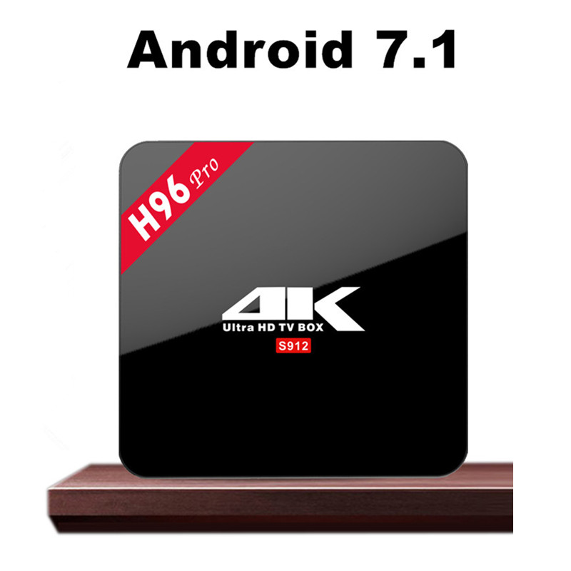Android 7.1 <strong>TV</strong> <strong>box</strong> Octa core H96 PRO 3G 16G smart <strong>TV</strong> receiver Amlogic S912 4K AC internet <strong>set</strong> <strong>top</strong> <strong>box</strong>