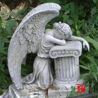 Praying Cemetery Angels Statue With Jessus