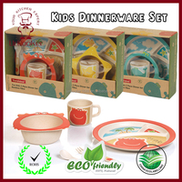 High Quality Bamboo Kids Plate and Bowl Melamine Dinnerware
