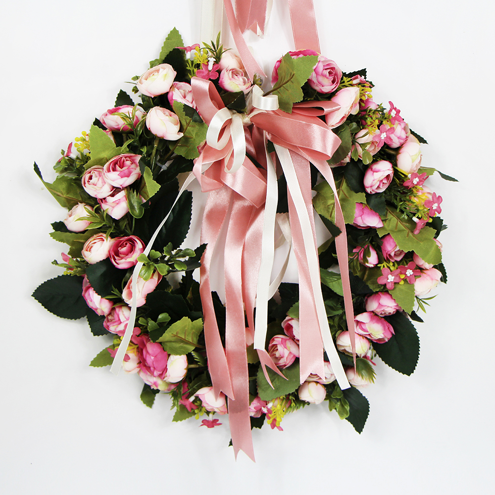 high quality customized beautiful artificial flower wreath for decoration