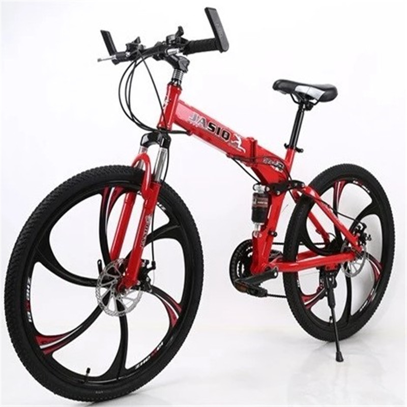 21 speed land rover extreme edition six-knife wheel carbon fiber mountain bike folding bike folding bicycle