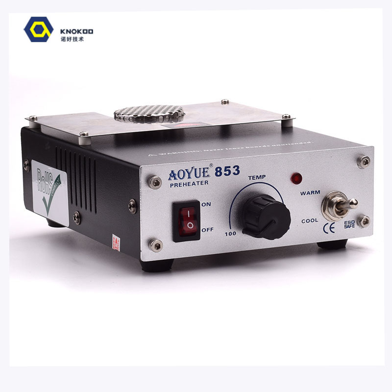 Aoyue 853 Adjustable Temperature Preheating Station 110V 220V Hot Air Station Preheating Station