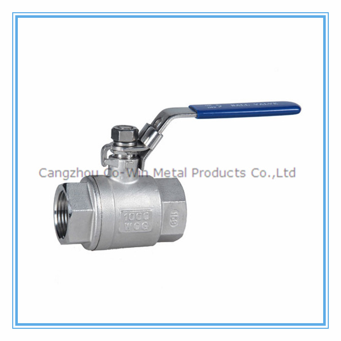 "1/2"" stainless steel 2 way ball <strong>valve</strong> 1000 wog 304+316"