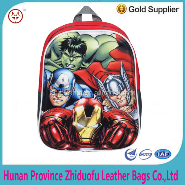 Marvel Avengers Boys Kids 3d / EVA Backpack / Rucksack / School Bag