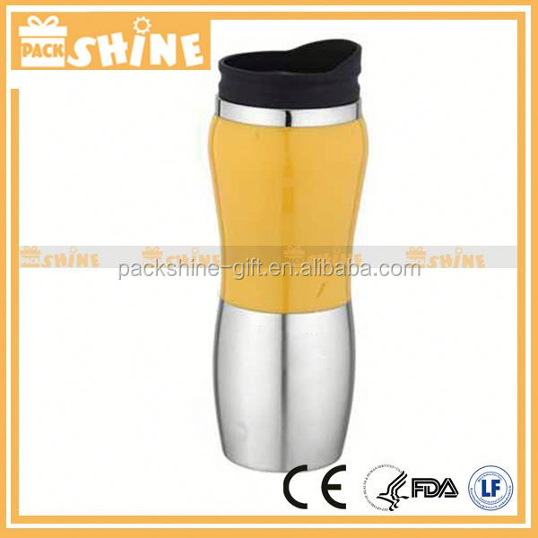 2012 Asia popular double wall stainless steel vacuum cup for lady 500ml