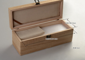 Handmade and custom logo free gift paulownia wood box or case