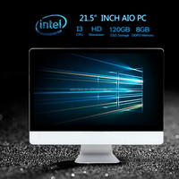 All in one PC 21.5 inch Intel Atom x7-Z8700 @ 1.60GHz i3 2310M 8GB RAM 500GB win 7 PC desktop