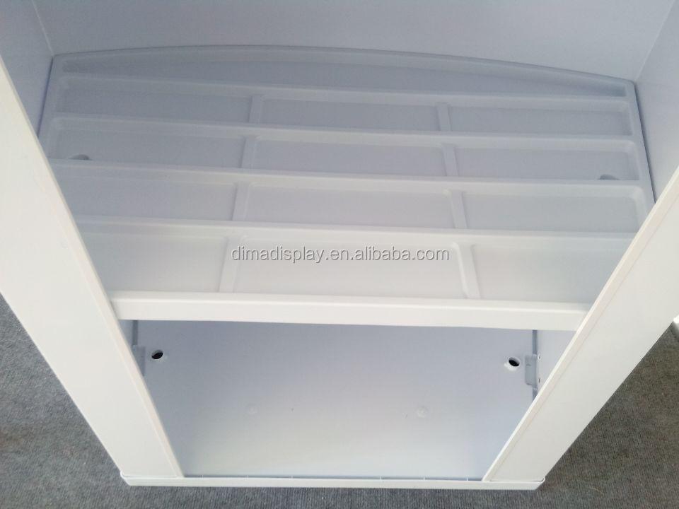 Dm Pe Abs Plastic Booth Demonstration Tables Folding Kiosk