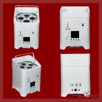 4pcs 18w 6in1 RGBWAUV LED Light Source 4x18w, dmx wireless led par can 6in1