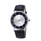 High quality fashion black leather strap classic wrist watches women wood watch lady