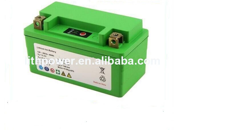 highpower 12v 4ah lifepo4 motorcycle battery with 12v lifepo4 start battery for 400cc motorcycle