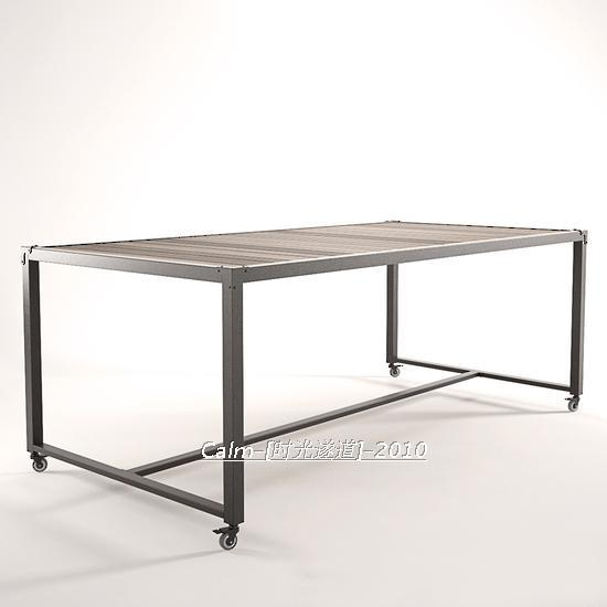 Loft Style French Country Dining Table With Wrought Iron Wood Desk Computer Conference In Price On M Alibaba
